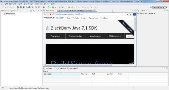 BB 2g Eclipse IDE HelloWorld