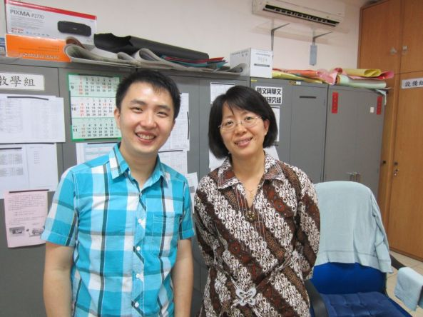 With Huang Xinyin